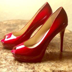 GUESS Red Pump Heel open toe stiletto Womens shoe